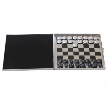 Шахматы дорожные магнитные малые, 10 x 10 см (алюминий)