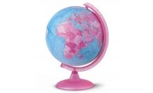Глобус с подсветкой Орион Пинк, 25 см (Рус. язык, физич/полит), Tecnodidattica 5182