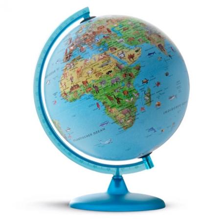 Глобус с подсветкой Сафари, 30 см (Англ. язык, физический/политический), Tecnodidattica 5183