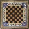 Восточные нарды Мозаика хатам с объемной росписью (Иран) 50 x 50 см, TYPE-OK-F
