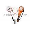 Ракетки для бадминтона (2рак+PVC чехол) KEKA PRO-629 (сталь, цвета в ассортименте)