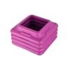 Степ-платформа ZEL FI-3593-1 (пластик,покрыт. TPR,р-р 109Lx41Wx11H+5+5см,черный-бирюзовый-малиновый)