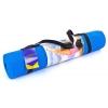 Коврик для фитнеса Yoga mat PVC 6мм с фиксирующей резинкой YG-066(B) (1,73м x 0,61м x 6мм, синий)
