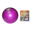 Мяч для фитнеса (фитбол) ZEL гладкий глянцевый 65см FI-1980-65 (PVC,800г,цвета в ассор,ABS-система)