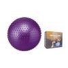 Мяч для фитнеса (фитбол) ZEL массажный 75см FI-1988-75 (PVC, 1400г,цвета в ассор,ABS-система)