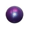 Мяч для фитнеса (фитбол) полумассажный 2 в1 85см FI-4437-85 (PVC, розовый, фиолет, голубой, 1400г)