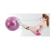 Мяч для фитнеса с эспандерами PS гладкий глянцевый 65см FI-075T-65 (PVC,1100г,цвета в ассор,ABS-сис)