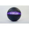 Мяч медицинский (медбол) FI-5122-5 5кг (резина, d-24см, черный-фиолетовый)