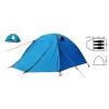 Палатка кемпинговая 3-х местная с тентом и коридором SY-A15 (р-р 0,7+2,1+0,5х1,8х1,35м, нейлон)