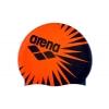Шапочка для плавания ARENA AR-94168-11 PRINT OCEAN (силикон, черный-оранжевый)