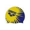 Шапочка для плавания ARENA AR-94168-13 PRINT OCEAN (силикон, синий-желтый)