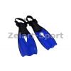 Ласты детские с открытой пяткой (пяточный ремень) 440 ZEL ZP-440-XXS (р-р 27-31, жёлтый, синий,крас)