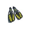 Ласты с закрытой пяткой (калоша цельная) 444 DORFIN PL-444-XL (р-р XL-44-45, жёлтый, синий, чёрный)