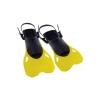 Ласты тренировочные с открытой пяткой (пяточный ремень) DORFIN PL-480-M-L (р-р M-L-38-43, жёлт,крас)