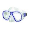 Маска для плавания 276 DORFIN PL-276TPP (термостекло, PVC, пластик, желтый, синий, красный, черный)