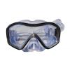 Маска для плавания 296 ZEL ZP-296TPP (термостекло, PVC, пластик, желтый, черный, синий, красный)