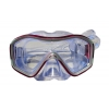 Маска для плавания 296 ZEL ZP-296TSS (термостекло, силикон, пластик, желтый, черный, синий, красный)