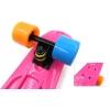 Penny (пенниборд) PU однотонная дека 22inch SK-401-20 ORIGINAL FISH (розовый-черный-4цвет)