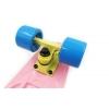 Penny (пенниборд) PU однотонная дека 22inch SK-401-23 ORIGINAL FISH Pastel (розовый-желтый-синий)