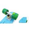 Penny (пенниборд) PU однотонная дека 22inch колесо мультиколор SK-404-6 SWIRL FISH (голуб-бел-зелен)