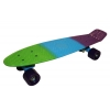 Penny (пенниборд) PU полосатая дека 22inch SK-402-4 FISH COLOR (дека зеленый-голубой-фиолетовый)