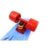 Penny (пенниборд) PU с отверстиями дека 22inch SK-409-2 RETRO PORTABLE (синий-красный-красный)