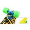 Penny (пенниборд) PU с рисунком однотонная дека 22inch с цвет. болтами SK-4442-2 ZOO FISH (желтый)