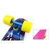 Penny (пенниборд) PU с рисунком однотонная дека 22inch с цвет. болтами SK-4442-5 ABSTRACT (розовый)