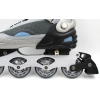 Роликовые коньки раздвижные KEPAI SK-28006-BL(XL) (42-44) (PL,PVC,колесо PU,алюм. рама, серый-синий)