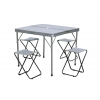 Набор для пикника (стол+4стула) TO-8833-B (р-р стола 86х80х69см, MDF-5мм, алюминий, ткань, серый)