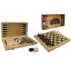 Набор из 3 игр (шахматы, нарды, шашки). 40 х 40 см, 341-163
