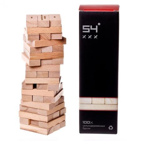 Башня алкогольная 54 градуса ХХХ - Дженга с заданиями. GaGa Games (GG007)