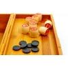 Русское лото с деревянными бочонками в бамбуковой шкатулке (большое)