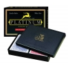 Карты подарочные Modiano Platinum Poker Acetate Jumbo (2 колоды)