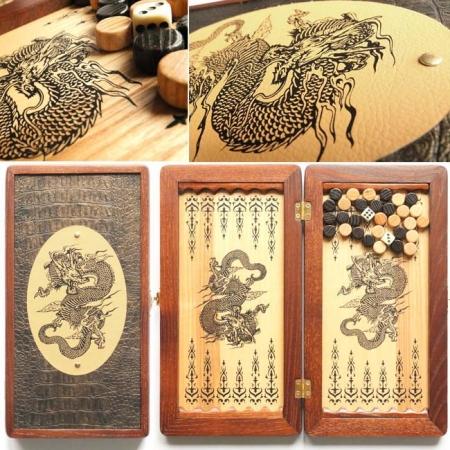 """Нарды дорожные """"Китайский дракон"""" 31135C23"""