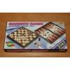 Магнитный набор - Шахматы, шашки, нарды 24х24 см (2051)