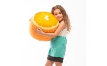 Мягкий надувной пуфик FRUIT POUF Апельсин, FP-01-02