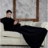 Плед с рукавами Homely Original Черный, флис, 140x180 см
