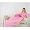 Плед с рукавами Homely Original Розовый, флис, 140x180 см