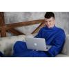 Плед с рукавами Homely Original Синий, флис, 140x180 см