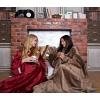 Плед с рукавами Homely Luxury Бордо, велсофт, 140x180 см