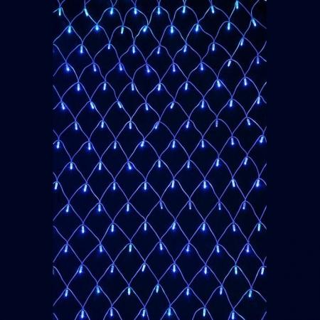 Гирлянда Сетка с LED светодиодами Jazzway NTLD144-B-E-F (синий)