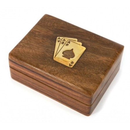 Футляр для игральных карт подарочный (орех)