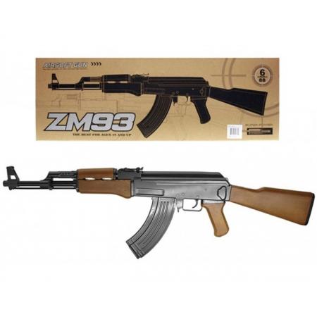 Автомат Калашникова ZM93, металл, пульки