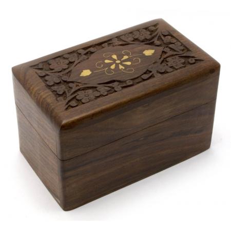 Подарочная шкатулка для карт на 2 колоды (розовое дерево)