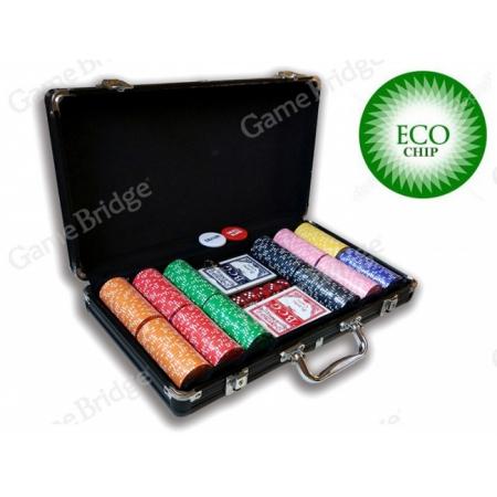 Покерный набор на 300 керамических фишек без номинала ECO Suit-300. 8g-chips