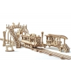 """UGears """"Трамвайная линия"""" (механический деревянный конструктор)"""