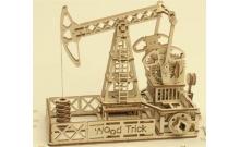 Wood Trick Нефтевышка - Механический деревянный конструктор