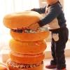 3D подушка Пончик шоколадный с миндальными хлопьями