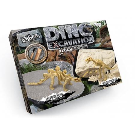 Раскопки динозавров мини-набор: Стегозавр + Тираннозавр. Danko DINO EXCAVATION